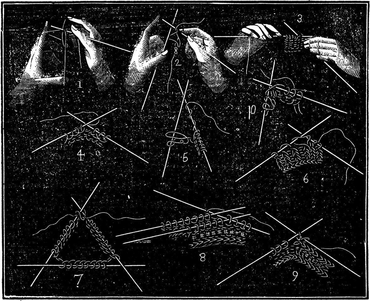 © Circa 1860 Ladies Hand Book, The Graphics Fairy